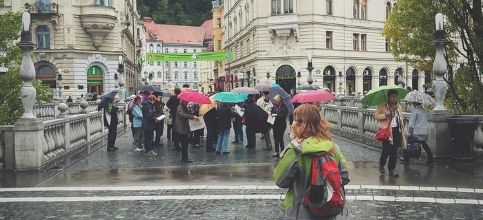 Lublana w deszczu
