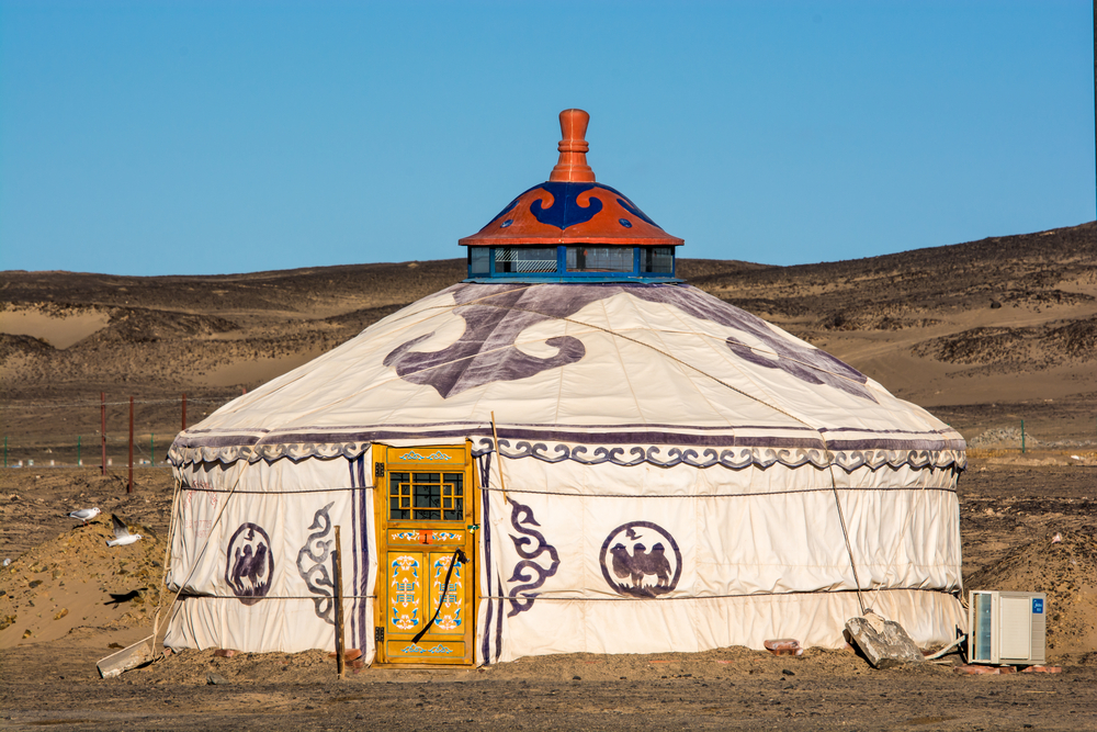Jurta na pustyni Gobi
